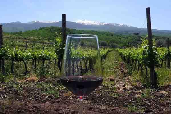 bicchiere-Treno dei Vini dell'Etna