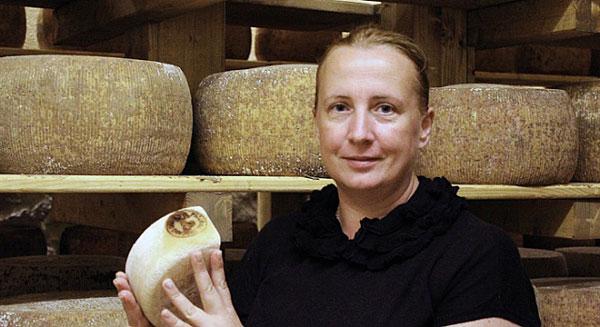 Angela Fiorini, proprietaria del Caseificio Il Fiorino